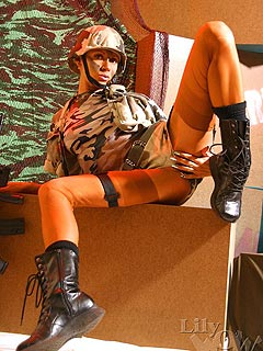 Nylon stockings is a part of military uniform for some of the hottest ladies around!