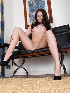 She is going to spread her legs and rip pantyhose just to tease you a bit