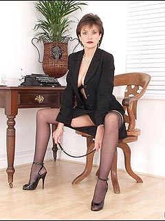 Bitchy boss is feeling OK with her skirt taken down and with her legs spread wide