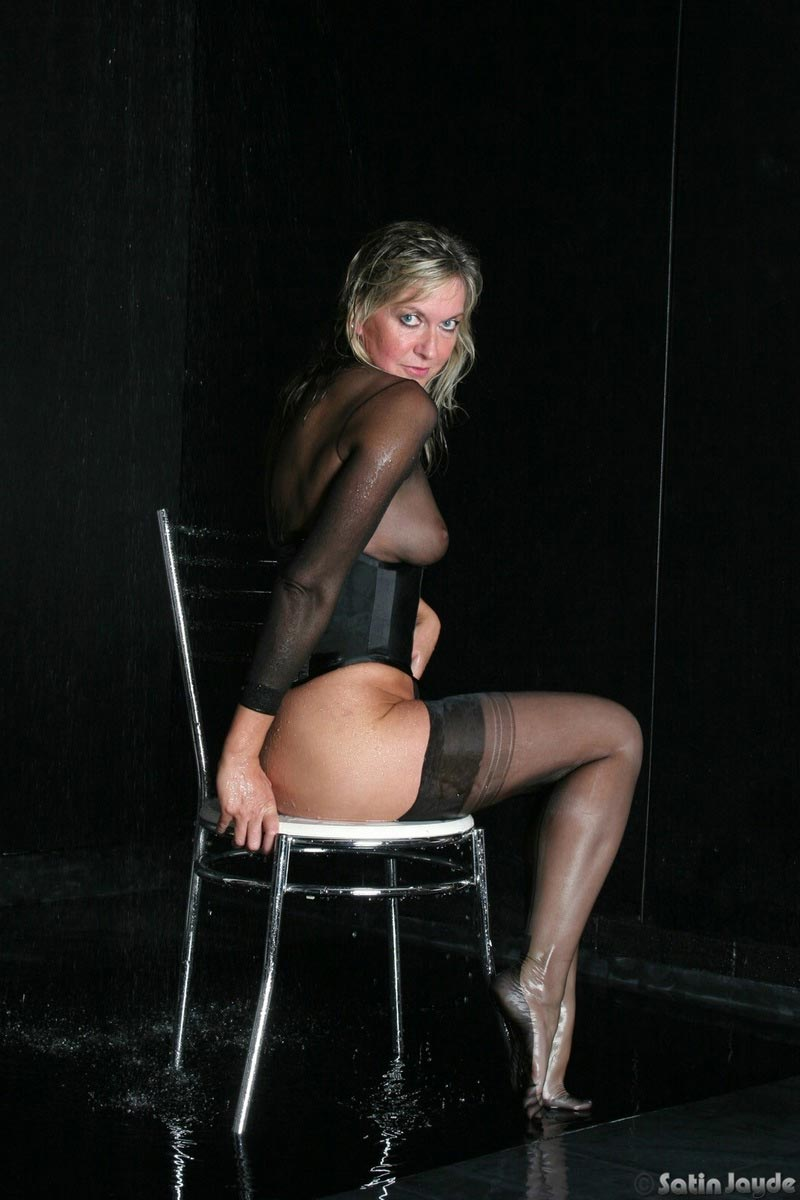 Woman with black stockings hot sexy lady