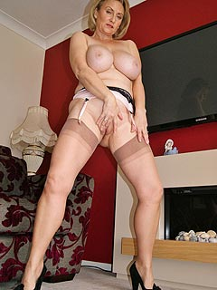 Older slut still got a lot naughtiness and unused slut energy she uses when posing in lingerie and stockings