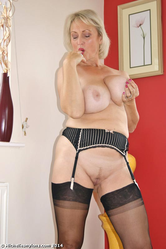 Cheating housewife black nylons stockings
