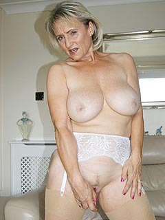 There is going to be some kinky fun when granny slut is going to be teasing you with her big boobies and shaved cunt