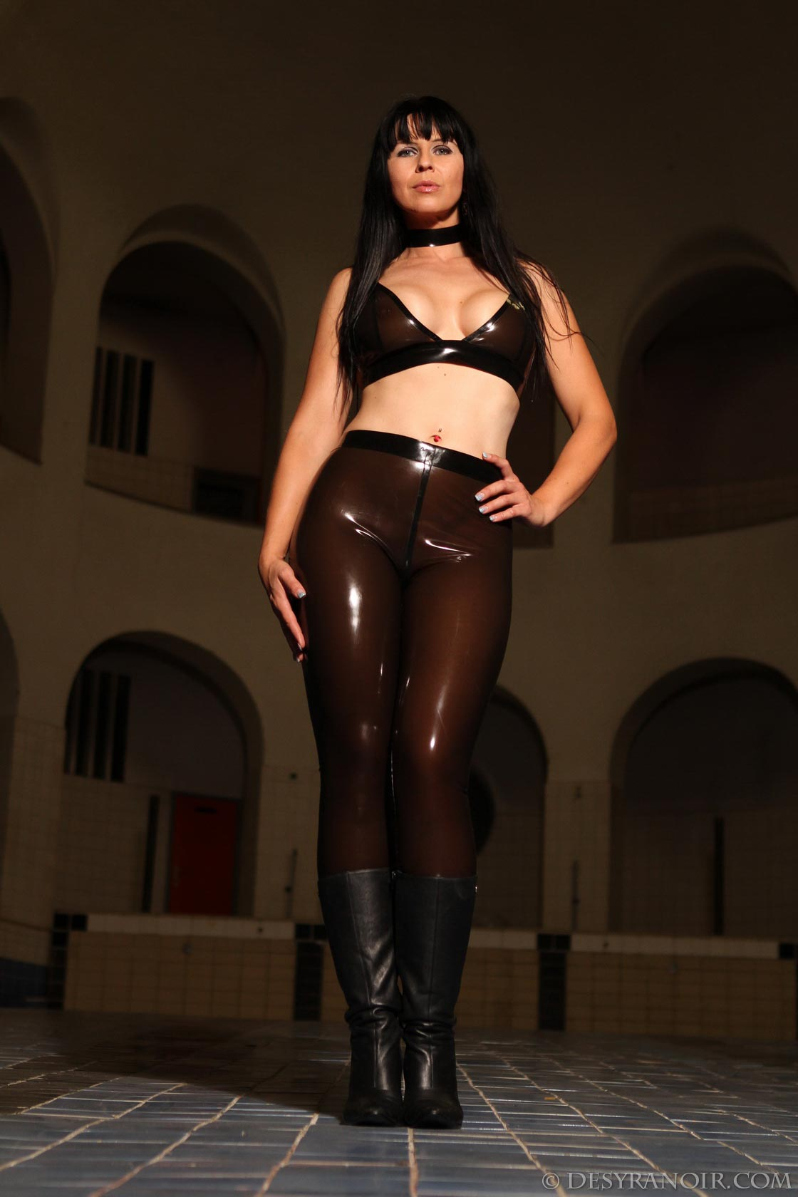 Girl sexy. Clear latex fetish